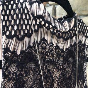 Dresses & Skirts - Black lace mini dress